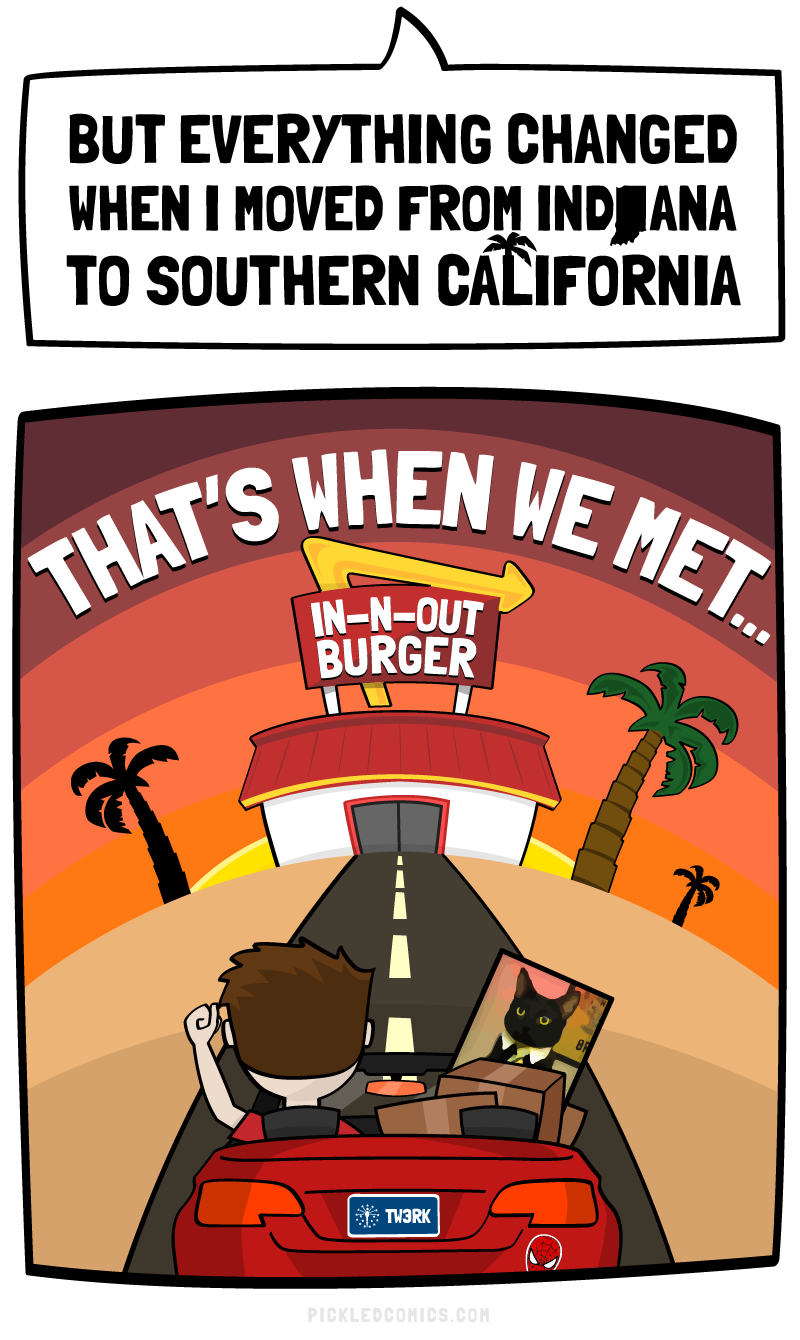 Everything changed when I moved from Indiana to California