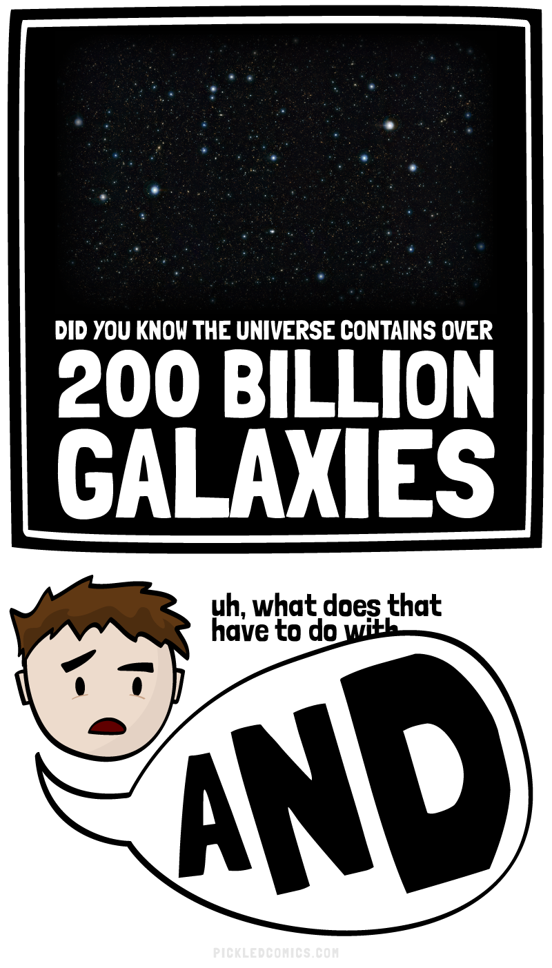 The universe contains over 200 billions galaxies