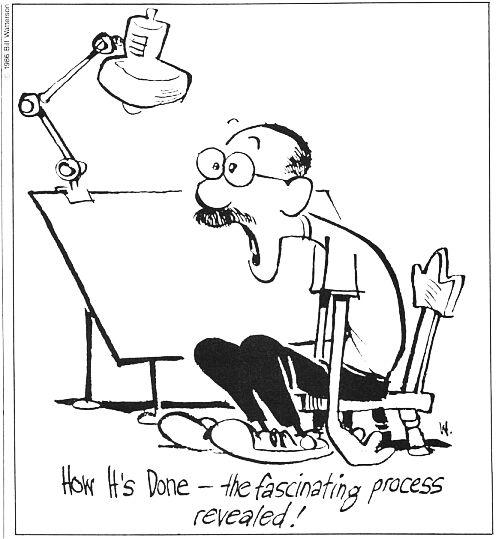 Bill Watterson's creative process.